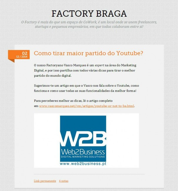 Factory Braga Tumblr