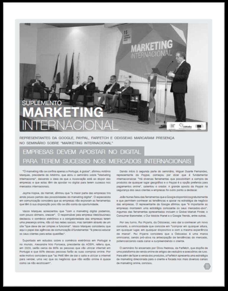 Marketing Internacional AIMinho 1