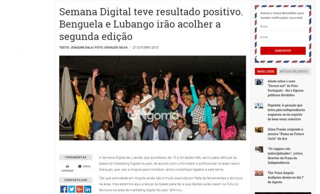 semana digital angola Ongoma