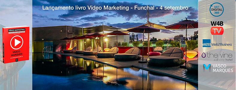 lancamento livro video marketing madeira